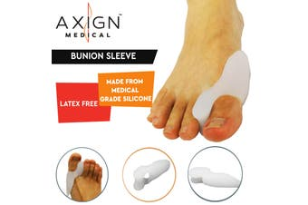 1 Pair Axign Medical Bunion Sleeve with Toe Spacer Separator Pain Relief Alignment