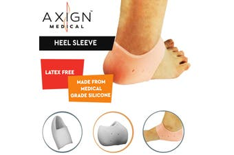 1 Pair AXIGN Medical Silicone Gel Heel Sleeve Bunion Foot Pad Cushioning Support