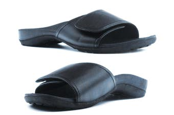 ARCHLINE Orthotic Slides Slip On Velcro Thongs Slippers Medical Foot Pain Relief