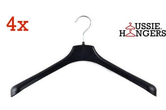 4x JACKET HANGER Heavy Duty 400mm Commercial Jacket Pants Clothing Coat R51S