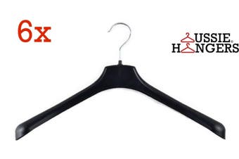 6x JACKET HANGER Heavy Duty 400mm Commercial Jacket Pants Clothing Coat R51S