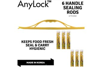 6x ANYLOCK Handle Sealing Rod 435mm Sealers Reusable Clip Lock Carry Store BULK