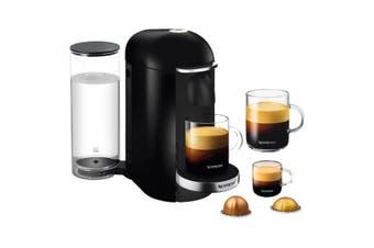 Breville Nespresso Vertuo Plus Black Deluxe Coffee Pod Machine