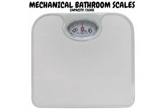 130kg Mechanical Bathroom Scales Weight Checker Kilo Kg Kilograms - White