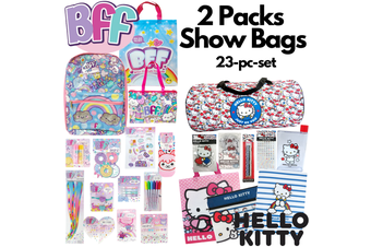 2 Packs Show Bags Hello Kitty w Duffel Bag + BFF Kids Girls w Backpack Showbags