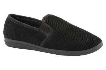 Grosby Blake 2 Men's Slippers Slip On Indoor Outdoor Casual - Black