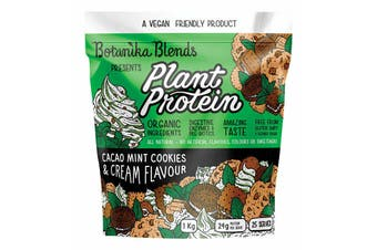 1kg BOTANIKA BLENDS Organic Plant Protein Vegan Friendly - Cacao Mint Cookies & Cream