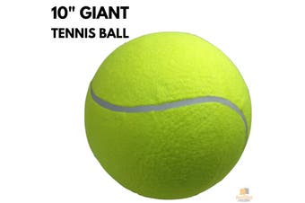 "10"" GIANT TENNIS BALL for Autographs Signatures Kids Games Yellow Jumbo Toy New"