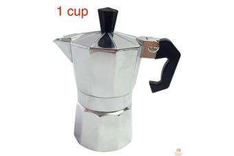 1 Cup COFFEE PERCOLATOR Espresso Stove Top Maker Perculator Aluminium Stove Top