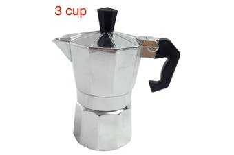 3 Cup COFFEE PERCOLATOR Espresso Stove Top Maker Perculator Aluminium Stove Top