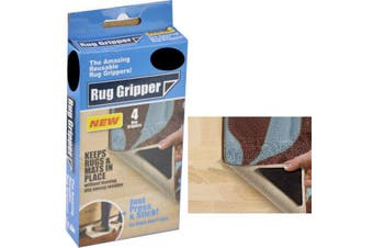 4x RUG GRIPPERS Non Slip Reusable Carpet Mat Gripper Anti Skid Washable Grip New