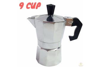9 Cup COFFEE PERCOLATOR Espresso Stove Top Maker Perculator Aluminium Stove Top