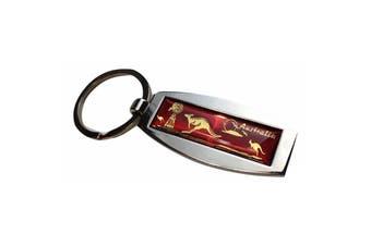 Australia Keyring Metal Souvenir Aussie Gift Kangaroo Key Chain Bag Tag
