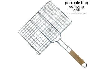 Camping BBQ Meat Fish Grill Basket Vegetables Burger Steak FOOD HOLDER Barbecue