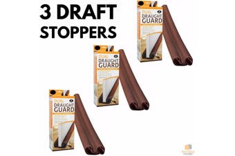 3x DUAL DRAFT STOPPER Double Sided Snake Wind Air Door Guard Cover Weather Seal