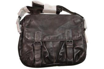 Mens Messenger Bag Cow Washed Genuine Leather Vintage Travel Laptop Satchel EX05