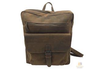 Crazy Horse Genuine Leather Backpack Bag Rucksack Laptop Cow Hide Hunter ITBP02