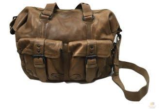 Men's Cow Washed Leather Bag Messenger Bag Vintage Travel Laptop Satchel EX02