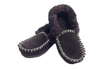 100% Sheepskin Moccasins Slippers Winter Casual Genuine Slip On Size 4 to 13 New