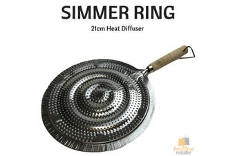 """SIMMER RING Heat Diffuser Stove Pan Gas Electric Slow Cook Ring 21cm 8"""" New"""