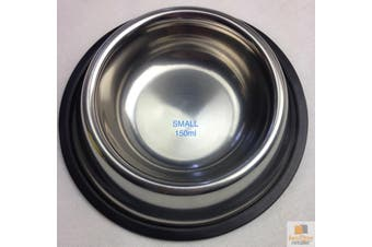 STAINLESS STEEL DOG BOWL Pet Cat Water Food Feeder Portable Dish New