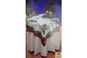 CHRISTMAS TABLE CLOTH Xmas Party 80cm x 80cm New