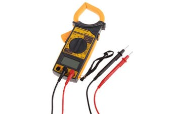 Digital Clamp Meter AC/DC Current Resistance Frequency DM6266 - Batteries Incl.