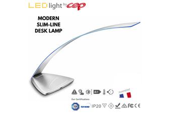 CEP Pro Premium Ice Blue LED DESK LAMP Dimmable Table Light Touch Sensor - Chrome