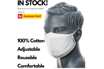 100% Cotton Face Mask Washable Reusable Mask Protect Anti-Microbial Fabric Mouth Cover