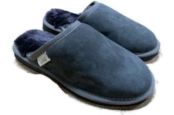 100% Australian Merino Sheepskin Scuffs Moccasins Slippers Winter Slip On UGG - Men's