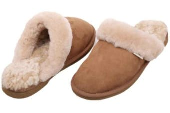 100% Australian Merino Sheepskin Scuffs Moccasins Slippers Winter Slip On UGG - Women's