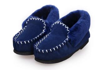 100% Australian Merino Sheepskin Moccasins Slippers Winter Casual Genuine Slip On UGG