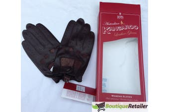 DENTS Ladies Kangaroo Leather Driving Gloves Unlined GIFT LL0040 Black Chocolate
