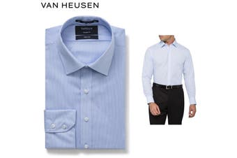 Van Heusen Euro Tailored Fit Shirt - Blue Stripe