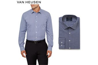 Van Heusen Euro Tailored Fit Shirt - Navy Blue