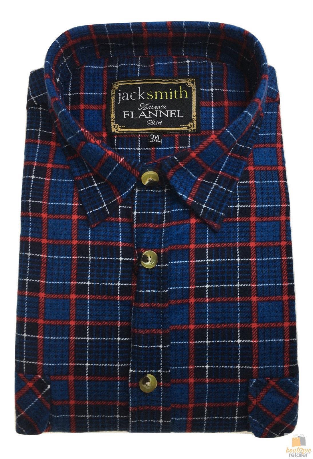 Men/'s Button Up FLANNELETTE SHIRT Check 100/% COTTON Flannel Vintage S-6XL New