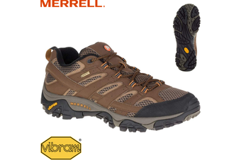 Merrell Men's Moab 2 GTX Gore-Tex Hiking Shoes Boots Trail Outdoor - Earth