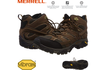 Merrell Men's Moab 2 Mid GTX Gore-Tex Hiking Shoes Boots Trail Outdoor - Earth