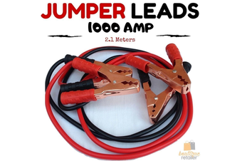 Heavy Duty JUMPER LEADS Booster Cables Jump Start 1000AMP 2.1M Long Car Battery