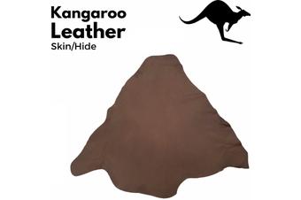 KANGAROO LEATHER HIDE Skin Brown Stonewash Chrome Tanned Finish