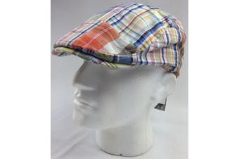 KENMONT Plaid Ivy Cap Flat Driving Hat Adjustable 100% COTTON Fitted Check Peak