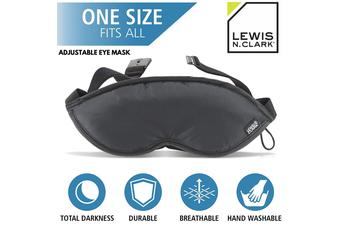 Lewis N. Clark Eye Mask Travel Sleep Relaxing Sleep Shade Blindfold Rest - Black
