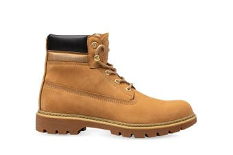 CAT Caterpillar Women's Lyric Boots Leather Lace Up Boot Shoes - Honey Reset