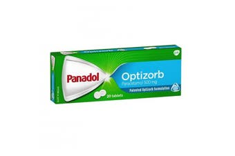 Panadol Optizorb Formulation 20 Tablets Paracetamol Pain & Fever Relief