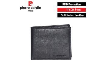 Pierre Cardin Men's Wallet RFID Blocking Genuine Italian Leather - Black