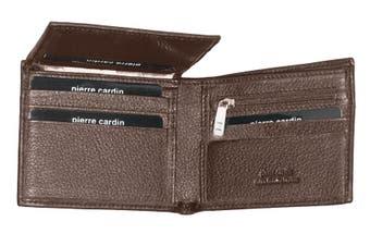 Pierre Cardin Men's Wallet RFID Blocking Genuine Italian Leather - Brown