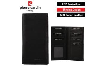 Pierre Cardin Men's Italian RFID Protected Leather Suit Wallet - Black