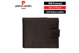 Pierre Cardin Men's Genuine Soft Italian Leather RFID Wallets - Black
