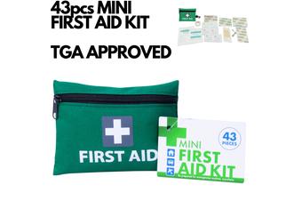 43pcs MINI FIRST AID KIT Emergency First Aid Kit Medical Travel Set Pocket Family Safety AU