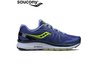 Saucony Women's ECHELON 6 WIDE Sneakers Shoes Running Runners - Navy/Citron